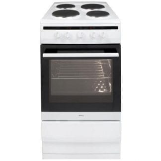 Amica 508EE1W - 50cm Single Cavity Electric Cooker - White-0