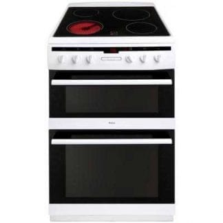 Amica 608DCE2TAW - 60cm Double Cavity Ceramic Cooker - White-0