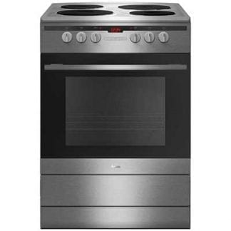 Amica 60EE2TAXX - 60cm Single Cavity Electric Cooker - Silver-0