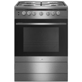 Amica 608GG5MSXX - 60cm Single Cavity Gas Cooker - Silver-0