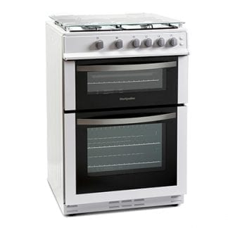 Montpellier MDG600LW - 60cm Single Cavity Gas Cooker - White-0