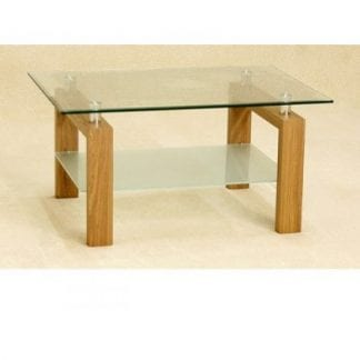Adina Clear Glass coffee table-0