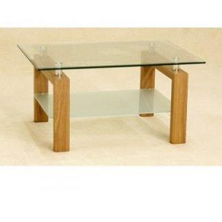 Adina Clear Glass coffee table-0