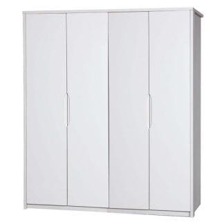 4 Door Robe - White Avola with Cream Gloss-0