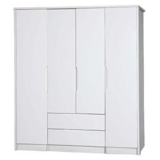 4 Door Combi + Singles - White Avola with Cream Gloss-0