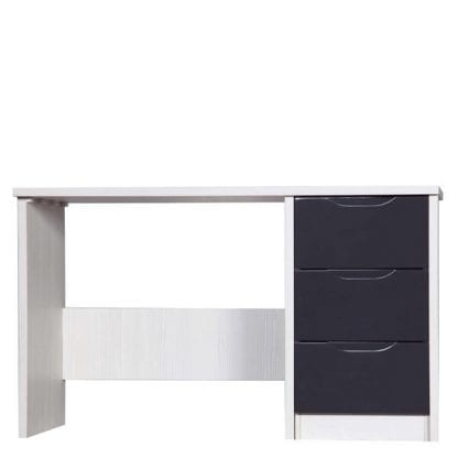 Dressing Table - White Avola with Grey Gloss-0