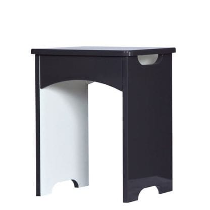 Stool - Grey Gloss-0