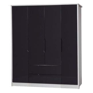 4 Door Combi + Singles - White Avola with Grey Gloss-0