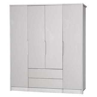 4 Door Combi + Singles - White Avola with Sand Gloss-0