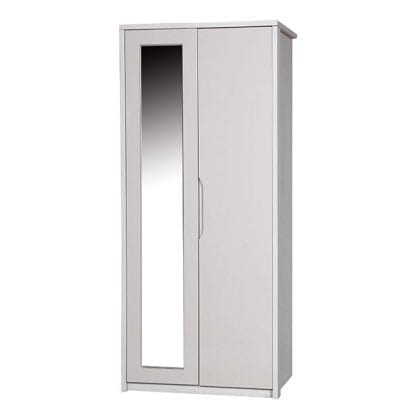Double Robe with Mirror - White Avola with Sand Gloss-0