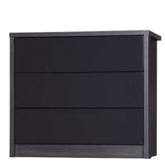 3 Drawer Chest - Grey Avola with Grey Gloss-0