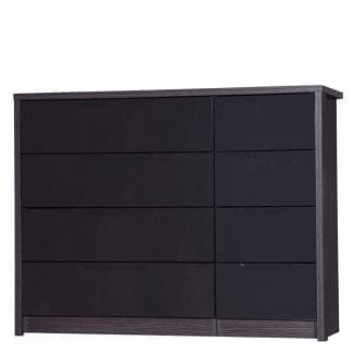4 Drawer Double Chest - Grey Avola with Grey Gloss-0
