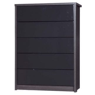 5 Drawer Chest - Grey Avola with Grey Gloss-0