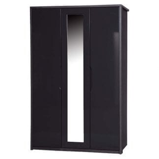 3 Door Robe with Mirror - Grey Avola with Grey Gloss-0