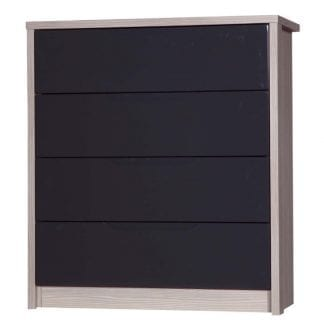 4 Drawer Chest - Champagne Avola with Grey Gloss-0