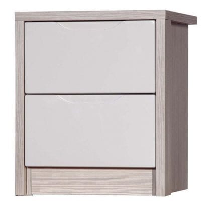2 Drawer Bedside - Champagne Avola with Sand Gloss-0