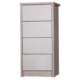 4 Drawer Tall Boy - Champagne Avola with Sand Gloss-0
