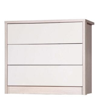 3 Drawer Chest - Champagne Avola with Sand Gloss-0