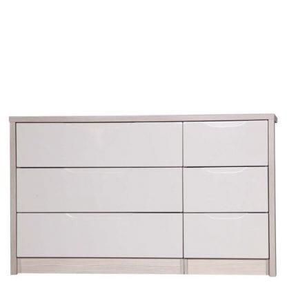 3 Drawer Double Chest - Champagne Avola with Sand Gloss-0