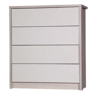 4 Drawer Chest - Champagne Avola with Sand Gloss-0