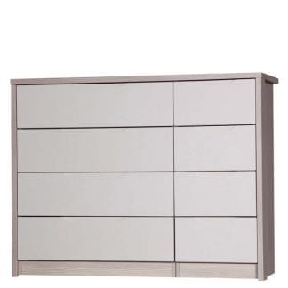 4 Drawer Double Chest - Champagne Avola with Sand Gloss-0