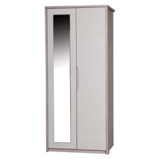 Double Robe with Mirror - Champagne Avola with Sand Gloss-0