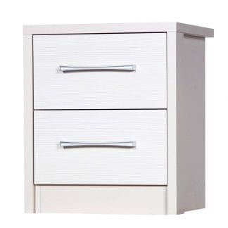 2 Drawer Bedside - Cream with White Avola-0