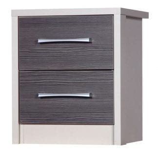 2 Drawer Bedside - Cream with Grey Avola-0