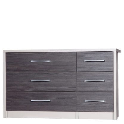 3 Drawer Double Chest - Cream with Grey Avola-0