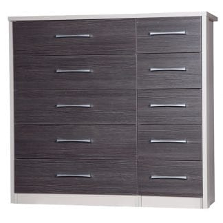5 Drawer Double Chest - Cream with Grey Avola-0