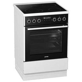 Gorenje EC647A21WV - 60cm Single Cavity Ceramic Cooker - White-0
