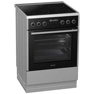 Gorenje EC647A21XV - 60cm Single Cavity Ceramic Cooker - Silver-0