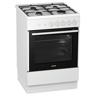 Gorenje GI612E17WKA - 60cm Single Cavity Gas Cooker - White-0