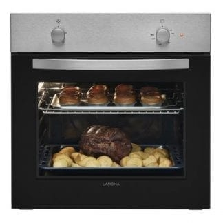Lamona - Single Static Built in Oven - Silver-0
