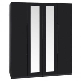 Tall 4 Door Robe - Black Gloss-0