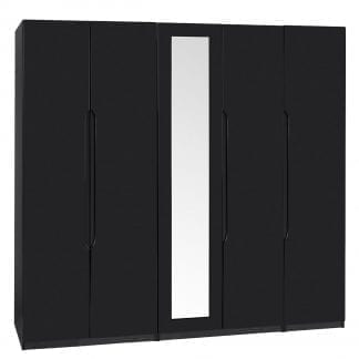 Tall 5 Door Robe - Black Gloss-0
