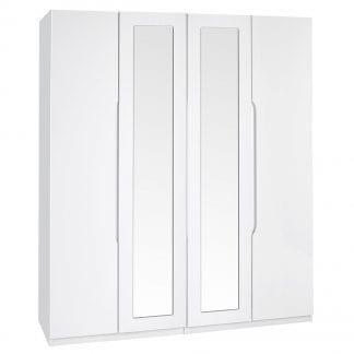 Tall 4 Door Robe - White Gloss-0