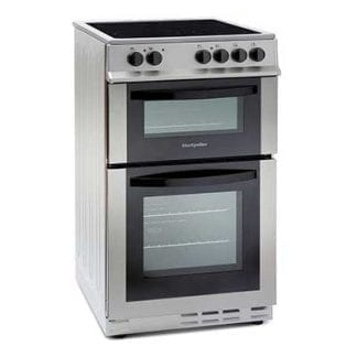 Montpellier MDC500FS - 50cm Double Cavity Ceramic Cooker - Silver-0