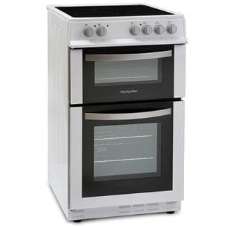 Montpellier MDC500FW - 50cm Double Cavity Ceramic Cooker - White-0