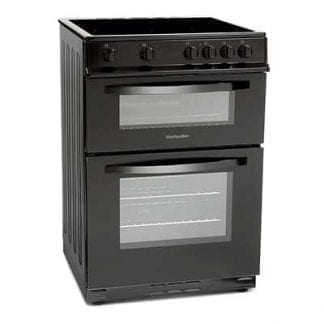 Montpellier MDC600FK - 60cm Double Cavity Ceramic Cooker - Black-0