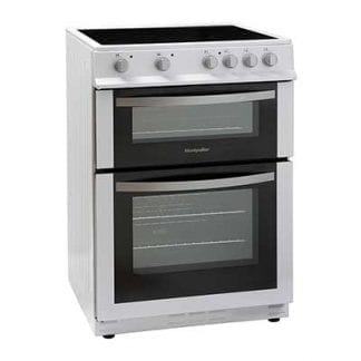 Montpellier MDC600FW - 60cm Double Cavity Ceramic Cooker - White-0