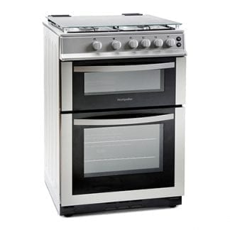 Montpellier MDG600LS - 60cm Single Cavity Gas Cooker - Silver-0