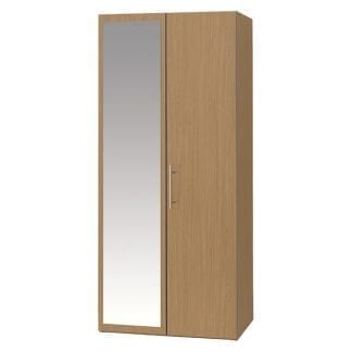 Double Robe with Mirror - Oak-0