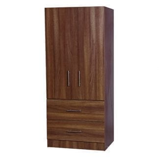 2 Drawer Combi Robe - Walnut-0