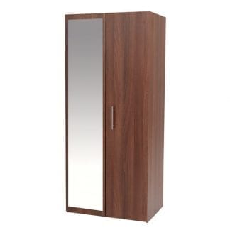 Double Robe with Mirror - Walnut-0