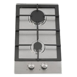 Montpellier GH30X - 2 Burner Gas Hob - Stainless Steel-0