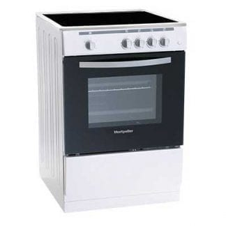 Montpellier MSC60FW - 60cm Single Cavity Ceramic Cooker - White-0