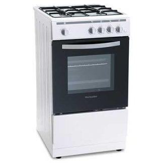 Montpellier MSG50W - 50cm Single Cavity Gas Cooker - White-0