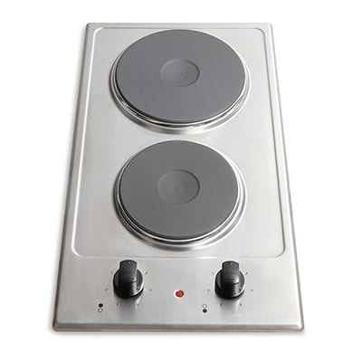 Montpellier SP200X - 2 Burner Electric Hob - Stainless Steel-0