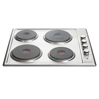 Montpellier SP440X - 4 Burner Electric Hob - White Enamel-0